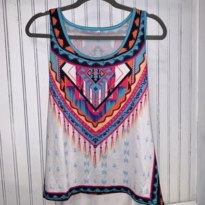 Tops - Aztec Style Tank Top Size Small Loose Fit